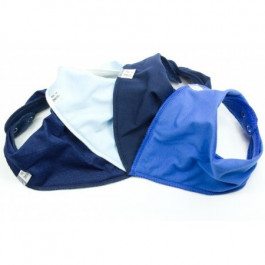 Simply Blue 4 pack Bandana Bibs