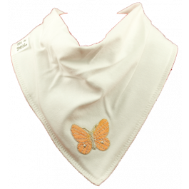 Beautiful Butterfly Bib -Orange