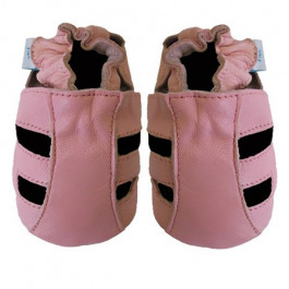 Pink Leather Sandals 0-6 months