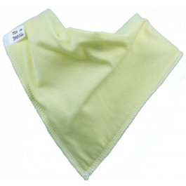 pale yellow bandana bib