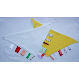 YELLOW Bibbles Reversible Taggy Bandana Bib