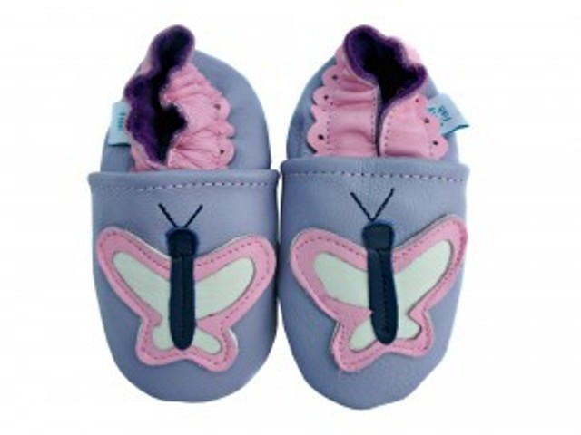 Flutterby Butterfly Leather Shoes 0-6 months