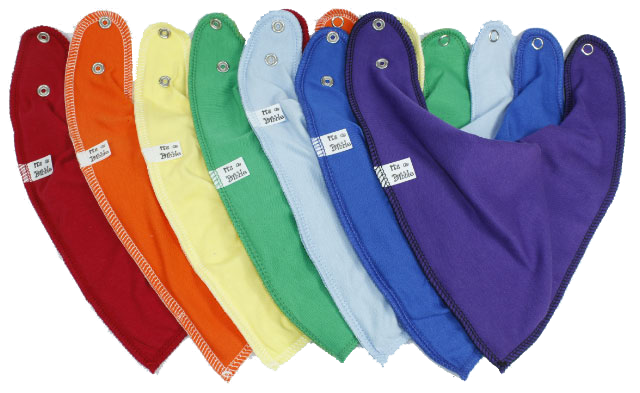 7 Day Rainbow Pack Bandana bibs