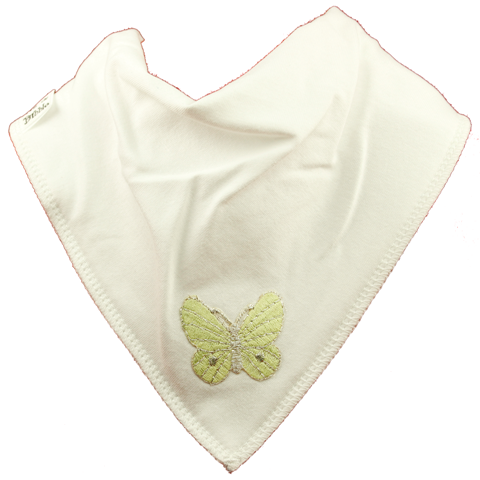 Beautiful Butterfly Bib - Green