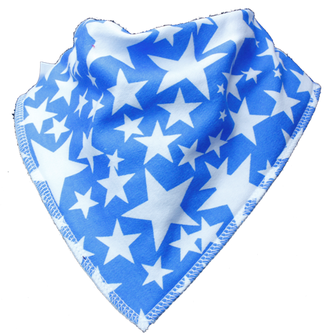 star pattern blue bandana bib