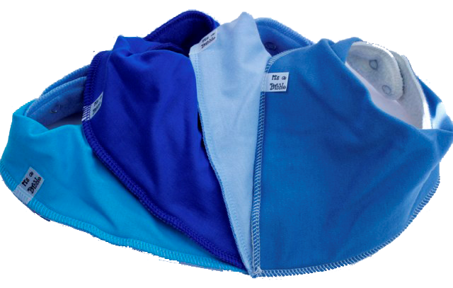 Boy Blue Bandana bibs 4 Pack