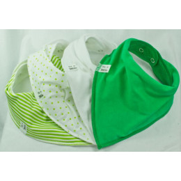 Green on Me 2 4 pack Bandana Bibs