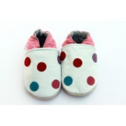 Spotty Dotty Leather Shoes 0-6 months