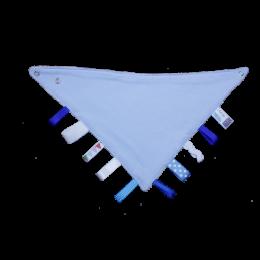 BLUE Bibbles Reversible Taggy Bandana Bib
