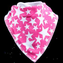pink star pattern bandana bib