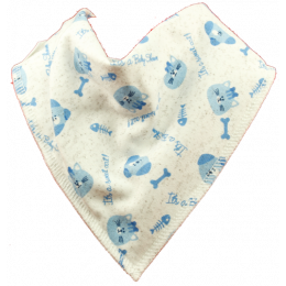 Puppies & Kittens - BLUE Bandana Bib
