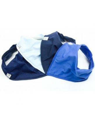 Simply Blue 4 pack Bandana Bibs
