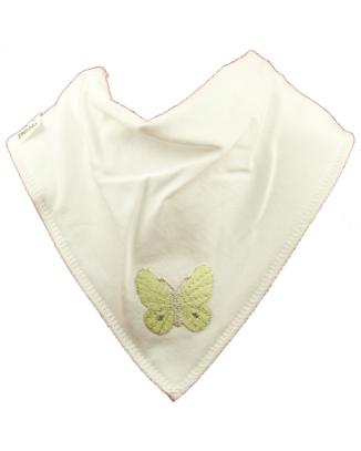 butterfly bib green