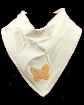 orange butterfly bandana bib