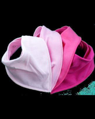 Simply Pink 4 pack bandana bibs